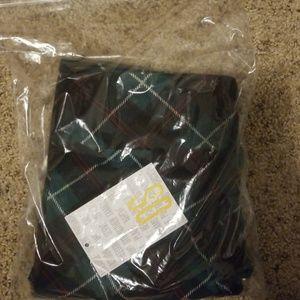 Green plaid lularoe os leggings